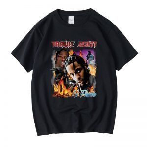 New Arrival Travis Scott 100% Cotton Black T-Shirt