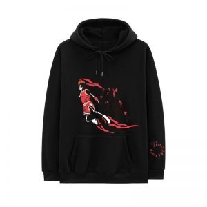 New Travis Scott Jordan Fleece Winter Black Hoodie