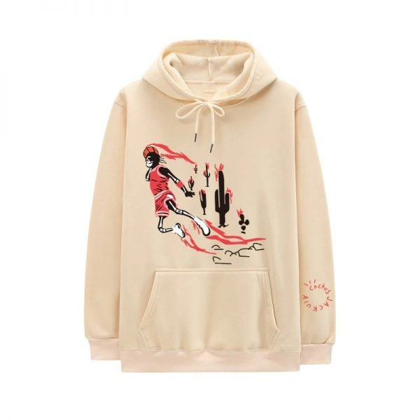 New Travis Scott Jordan Fleece Winter Clothing Beige Hoodie