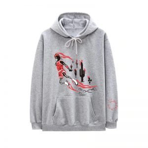 New Travis Scott Jordan Fleece Winter Clothing Gray Hoodie