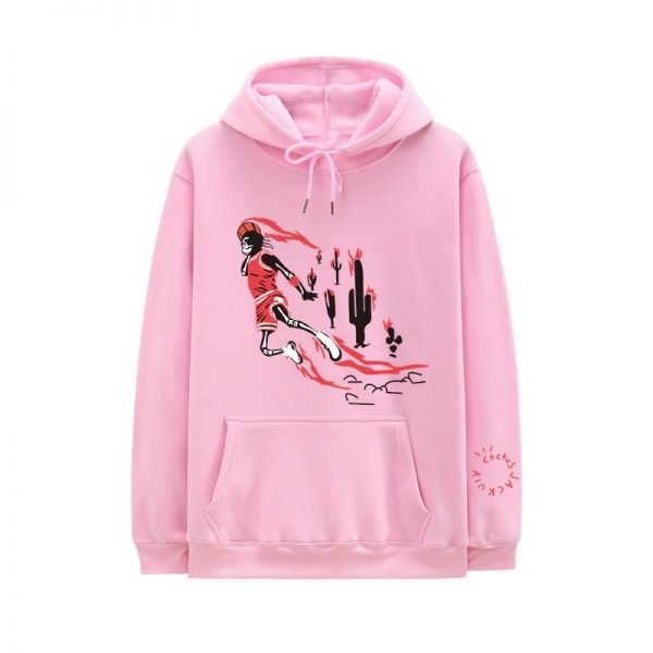 New Travis Scott Jordan Fleece Winter Clothing Pink Hoodie