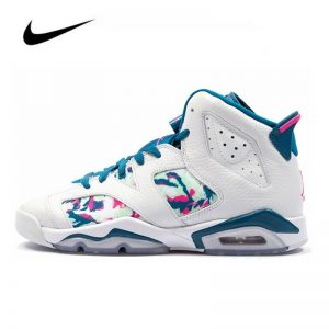 Nike Air Jordan 6 Retro Green Abyss GS Women Basketball Shoes