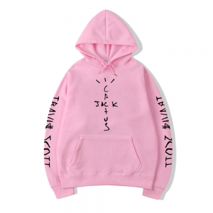 Travis Scott 2020 Fashion Clothing Winter Pink Hoodie