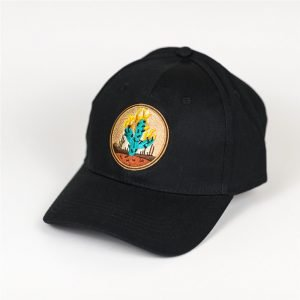 Travis Scott Cactus Embroidered Baseball Black Cap