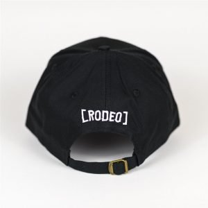 Travis Scott Cactus Embroidered Baseball Black Cap (Back)