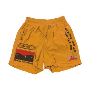 Travis Scott Cactus Jack Path Gold Shorts