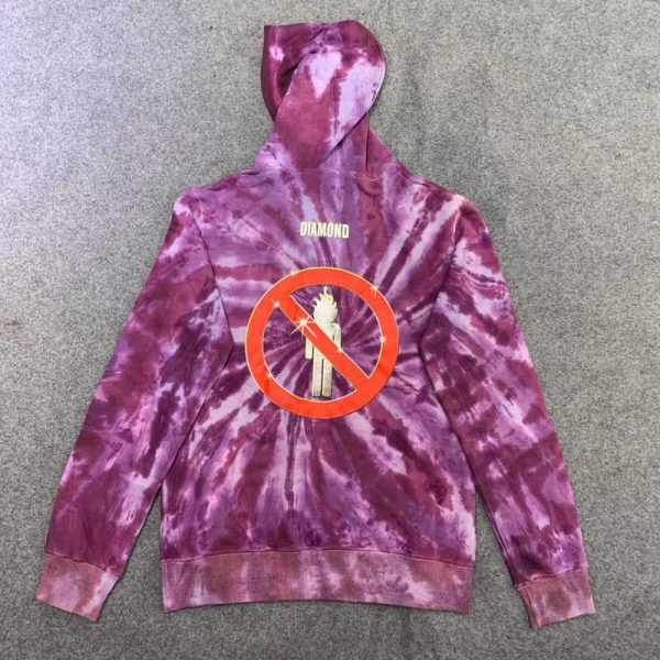 Travis Scott Diamond Pullover Purple Hoodie (Back)
