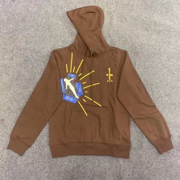 Travis Scott Highest In The Room Cactus Jack Brown Pullover Hoodie