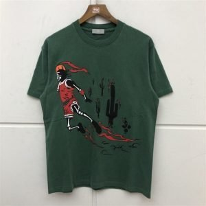 Travis Scott Jordan High Quality Lime Green T-Shirt