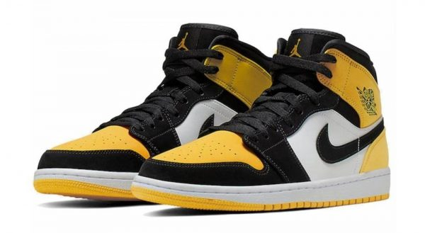 Travis Scott Nike Air Jordan 1 Mid SE Yellow Toe Basketball Shoes (2)