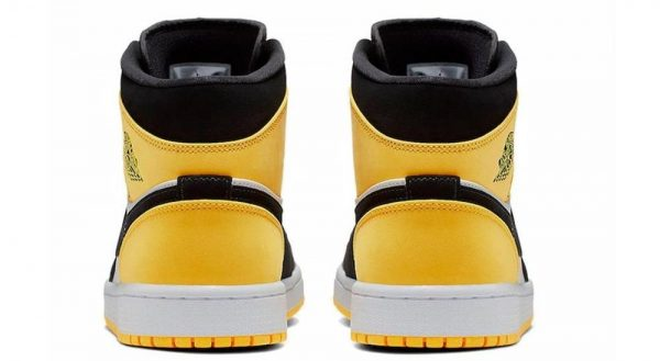 Travis Scott Nike Air Jordan 1 Mid SE Yellow Toe Basketball Shoes (4)