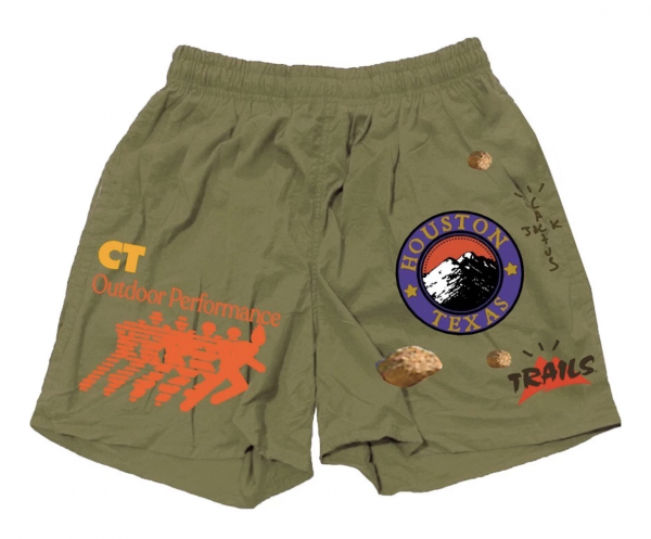 Travis Scott Running Wild Olive Shorts