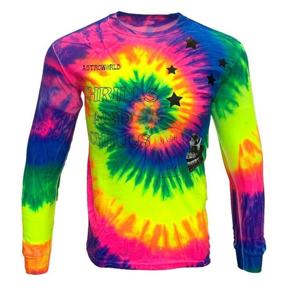 Travis Scott Tie Dye Thrills And Chills Long Sleeve