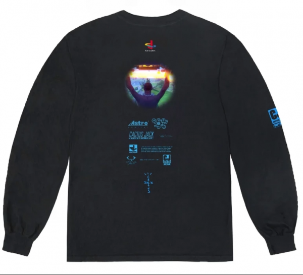 Travis Scott X Fortnite Protal Black Long Sleeves (Back)