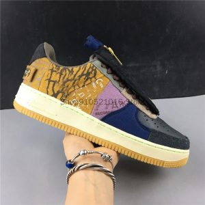 Travis Scott x Forces 1 Low Zipper Retro Casual Sneakers (4)