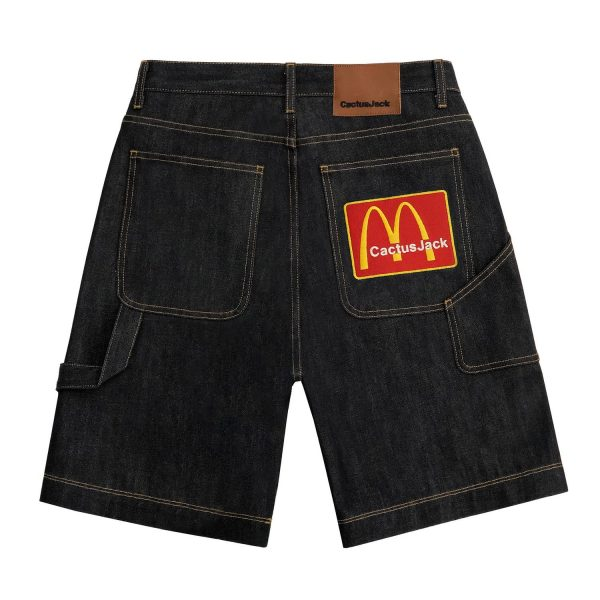 Travis Scott x McDonald's Arches Denim Shorts