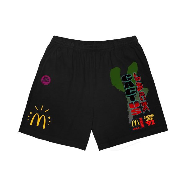 Travis Scott x McDonald's Black Shorts