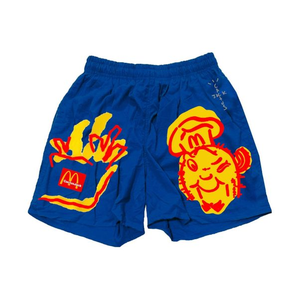 Travis Scott x McDonald's Illustration Blue Shorts