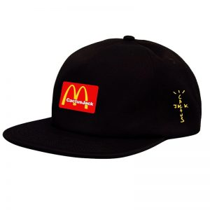 Travis Scotts McDonald Cactus Jack Black Snapback Cap