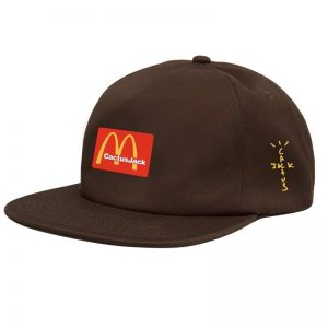 Travis Scotts McDonald Cactus Jack Brown Snapback Cap