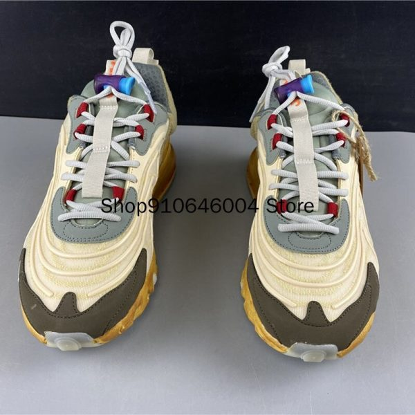 Travis Scotts x 270 Reacts Shock Absorption Beige Waves Running Shoes (4)