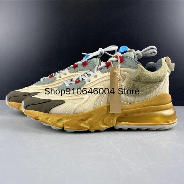 Travis Scotts x 270 Reacts Shock Absorption Beige Waves Running Shoes (6)